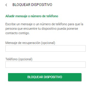 Android Device Manager bloquear celular