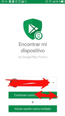 pantalla inicial Android Device Manager